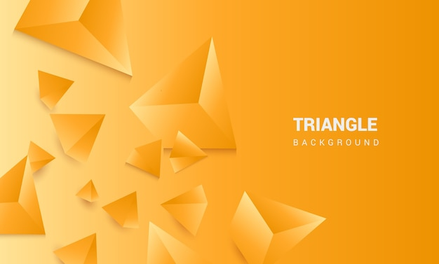3 dの三角形のオレンジ色の背景