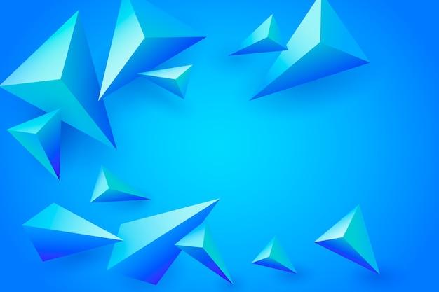 3 dの青い多角形の背景