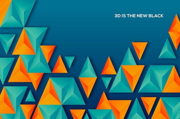 二色の3 dの三角形の背景