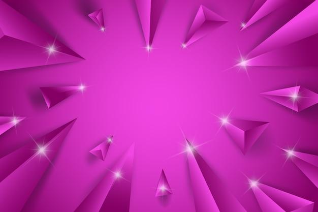3 dの三角形の紫色の概念の背景