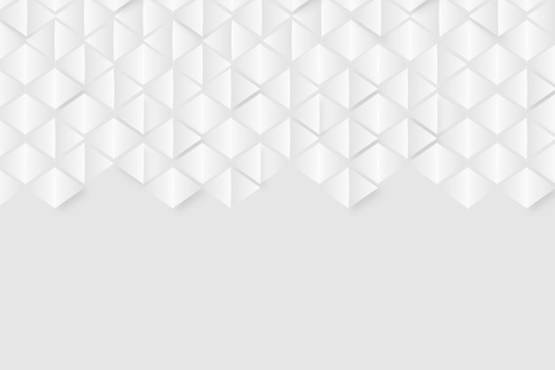 3 dペーパースタイルの白い背景テーマ