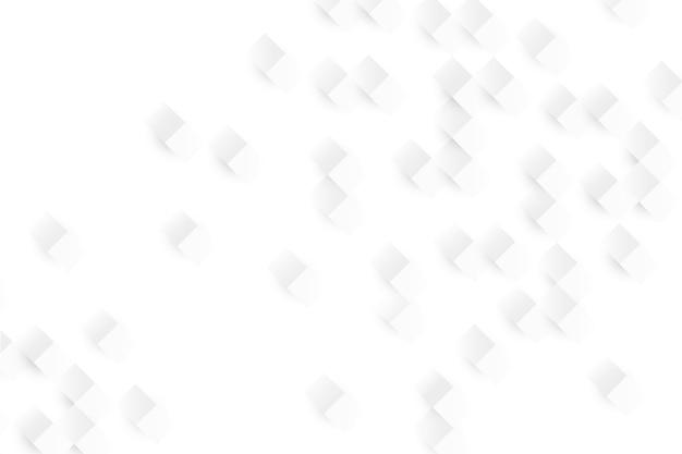 3 dペーパースタイルの白い抽象的な壁紙