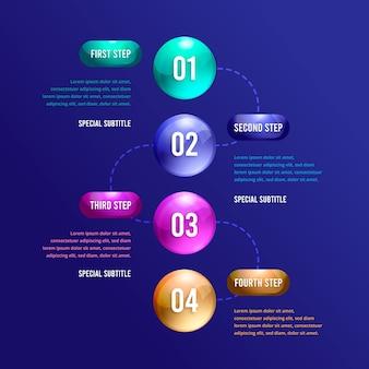 3 dの光沢のあるビジネスインフォグラフィック