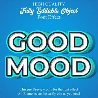 3 dのモダンなテキストスタイルの編集可能なフォント効果