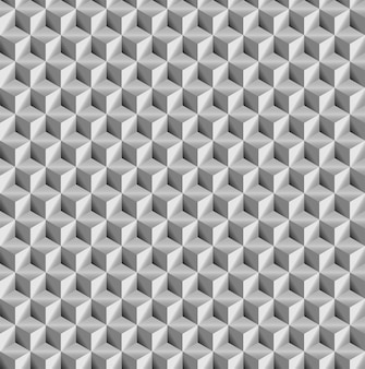 リアルな質感、グレーの3 dキューブ正方形の幾何学的なシームレスパターン