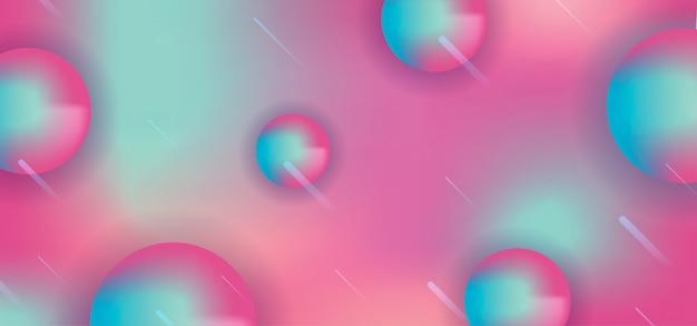 サークル3 dスタイルと抽象的なホログラフィック背景