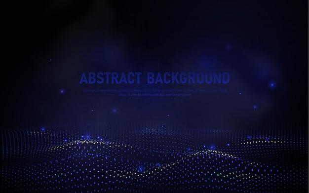 抽象的な3 d波背景