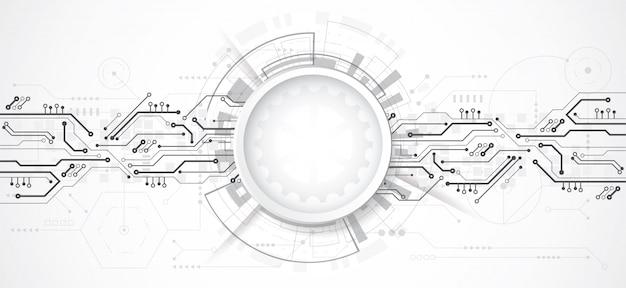 技術のドットとラインで抽象的な3 dデザインの背景