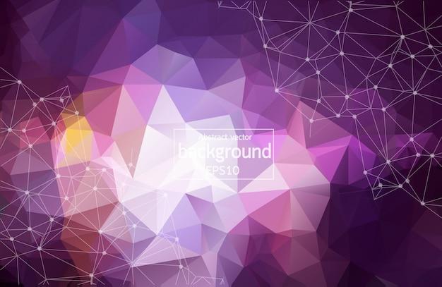 3 dの抽象的な多角形スペース紫色の背景