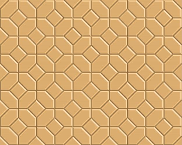 3 d黄色レンガ経路パターン