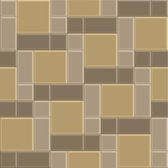 3 dレンガ石経路のシームレスなパターン背景