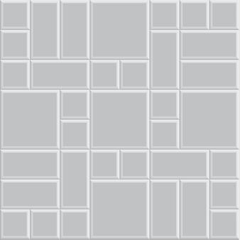 3 dレンガ石舗装テクスチャ背景、シームレスなグレーのベクトルイラストパターン