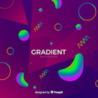 グラデーション3 d図形の背景