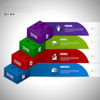 3 dのモダンなインフォグラフィックデザイン要素のバナー。