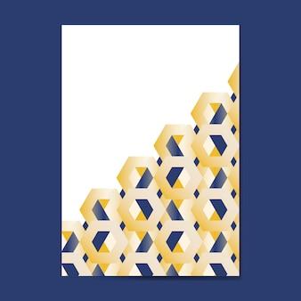 色とりどりの3 d六角形パターンの背景