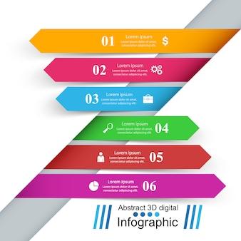 3 dインフォグラフィックデザインテンプレート