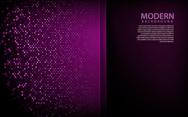 紫色の3 dオーバーラップ紙の背景