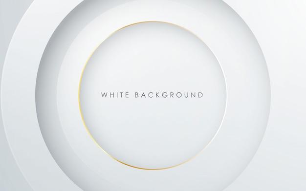 抽象的な3 dサークルレイヤーホワイトバックグラウンド