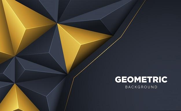 暗いと抽象的な3 dポリゴンの三角形