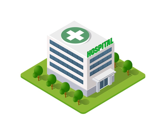 病院等尺性3 dビル