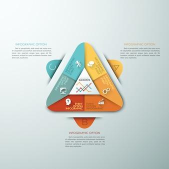 3 dモダンなインフォグラフィックオプションテンプレート