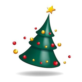 クリスマスツリー3 dの抽象的な形の装飾的な図