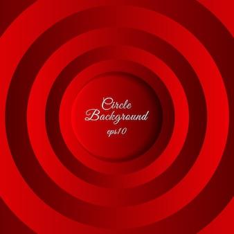 抽象的な3 d赤い円レイヤーの背景。