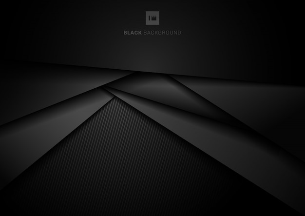 抽象的な3 d黒の幾何学的なレイヤーの背景