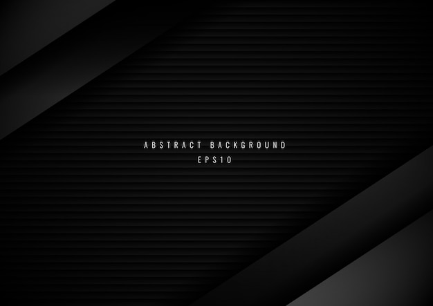 抽象的な3 d黒メタリックストライプの背景