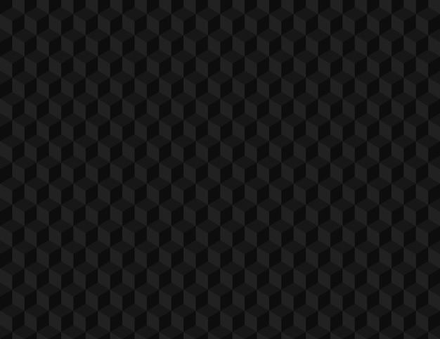 3 dブラックボリュームシームレスパターン。