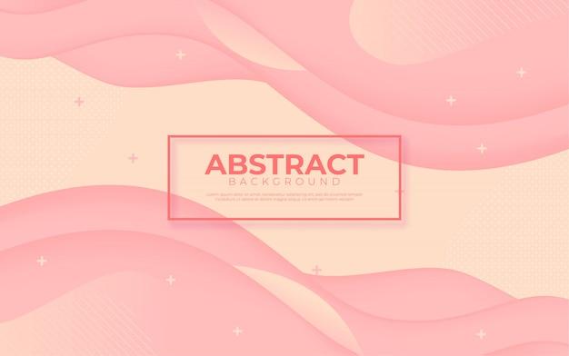 抽象的な3 dミニマリスト動的ピンクの背景