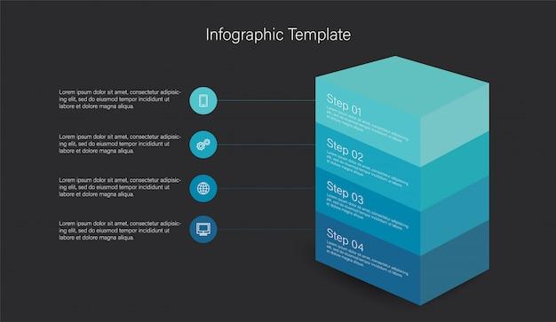 3 dのインフォグラフィック要素