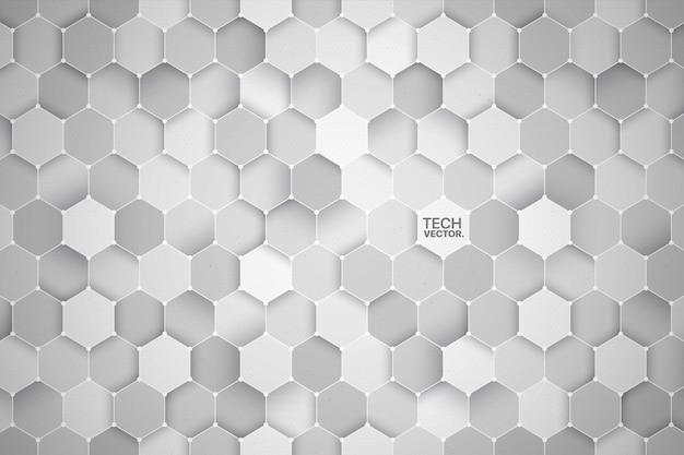 3 d六角形技術光の抽象的な背景