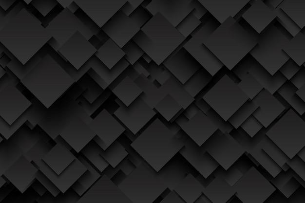抽象的な3 dベクトル技術ダークグレーの背景