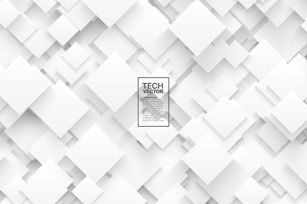 抽象的な3 dホワイトバックグラウンド。技術的結晶構造