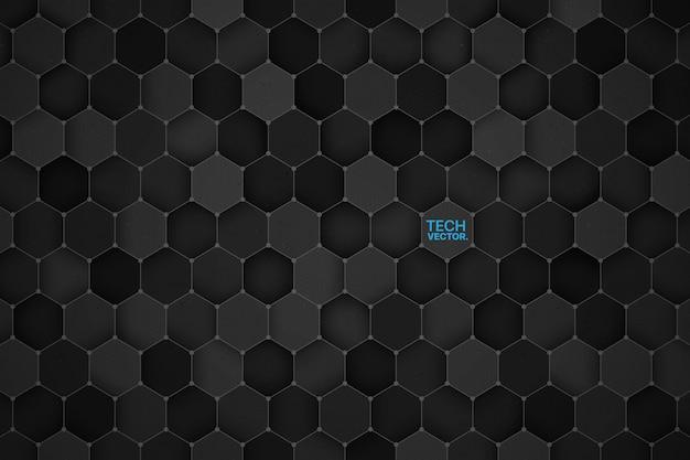 技術六角形の3 dの抽象的な背景