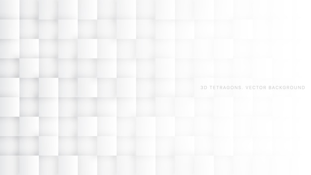 3 dスクエアテクノロジー白の抽象的な背景