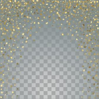 透明な背景に金の3 d星
