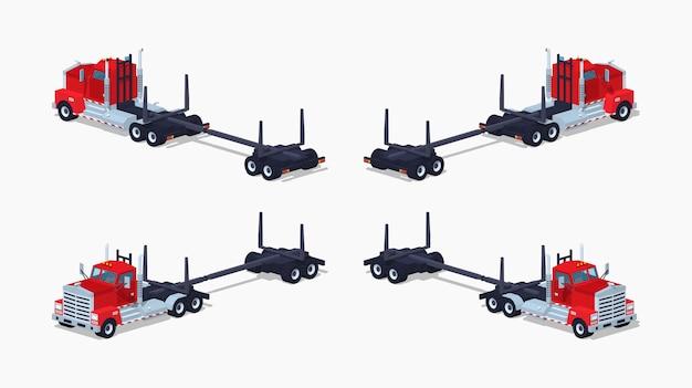 空の3 d低ポリアイソメトリックログトラック