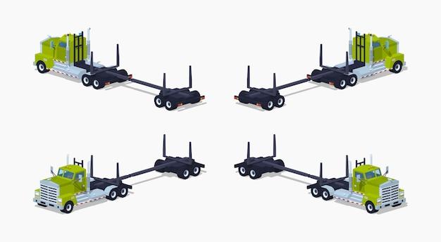 空の3 d低ポリメトリックログトラック
