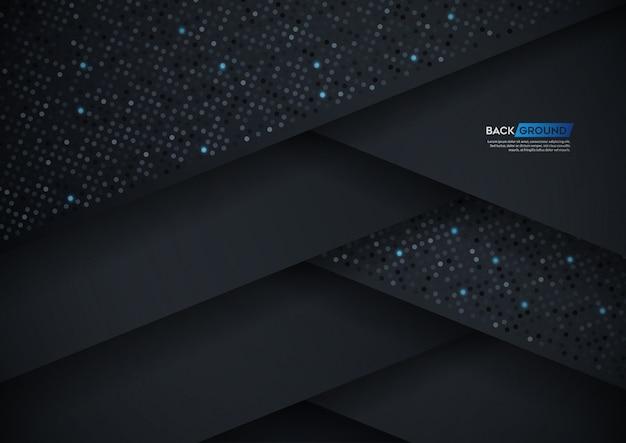 黒い紙の層と抽象的な3 d背景