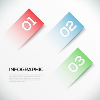 抽象的な3 dペーパーインフォグラフィックテンプレート