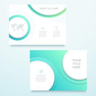 ベクトル青の3 d風景ページテンプレートデザイン