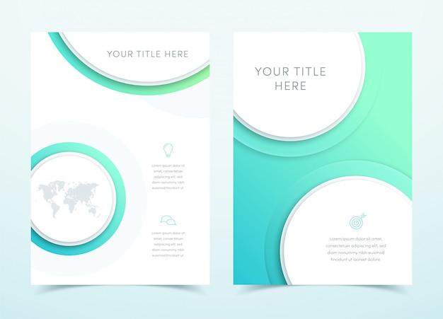 ベクトルビジネスブルー3 dページテンプレートデザイン