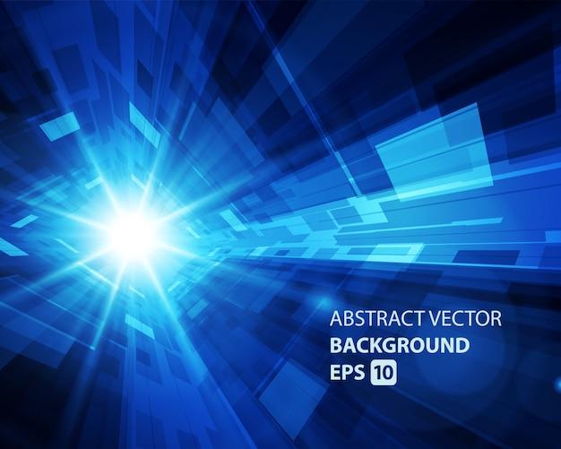 抽象的な背景バーチャルリアリティ3 d空間グリッド効果。
