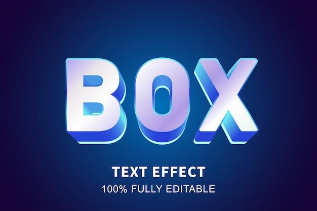 3 dクリスタルブルーの光沢のあるテキスト効果、編集可能なテキスト