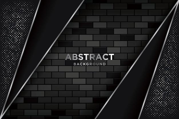 現実的な暗いブリックウォールと抽象的な3 d背景