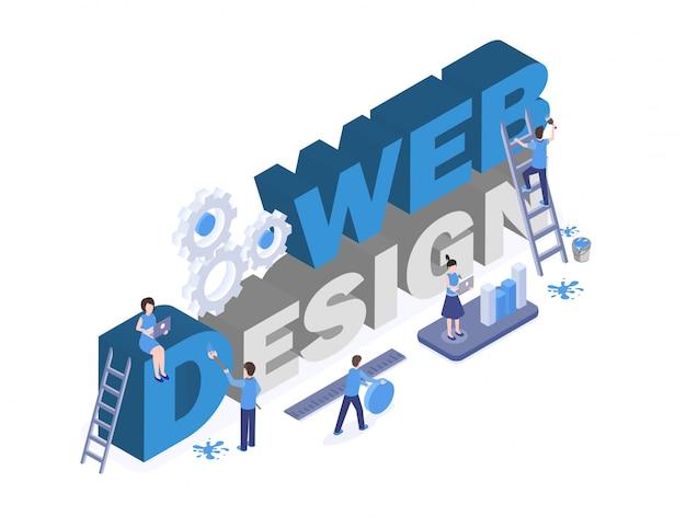 グラフィックとデジタルデザインのスタジオワーカーのチームワーク、クリエイティブなソリューションの検索3 dキャラクター