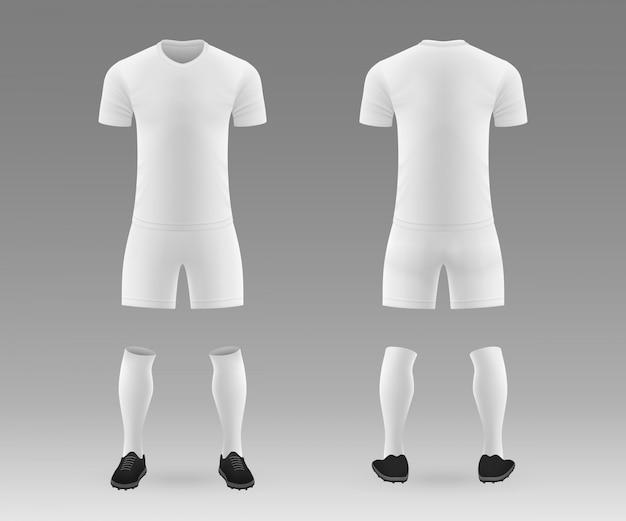 3 dの現実的なテンプレート空白サッカーキット
