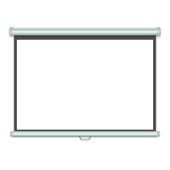 3 dリアルなプロジェクションスクリーン、プレゼンテーションホワイトボード。ベクトルイラスト